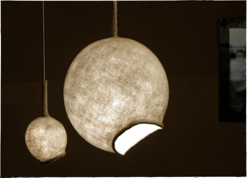 Ronde lampen van vilt