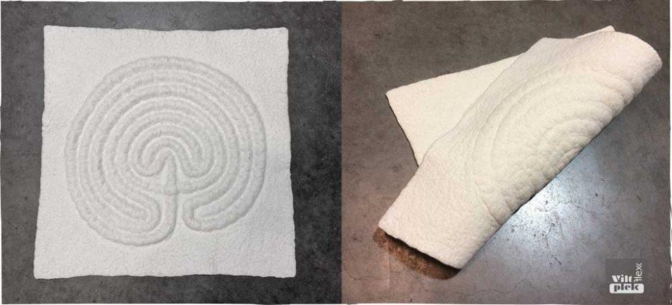 Labyrint ontwikkeld door Anneke Zwolsman-Westing op een viltflexplek