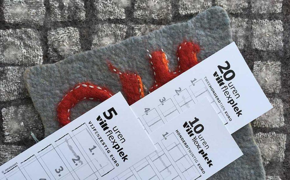 Natvilten prikvilten Viltflexplek Strippenkaart
